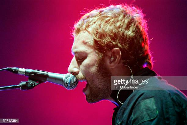 Chris Martin and Coldplay perform at the Coachella Valley Music and Arts Festival on April 30 2005 in Indio California