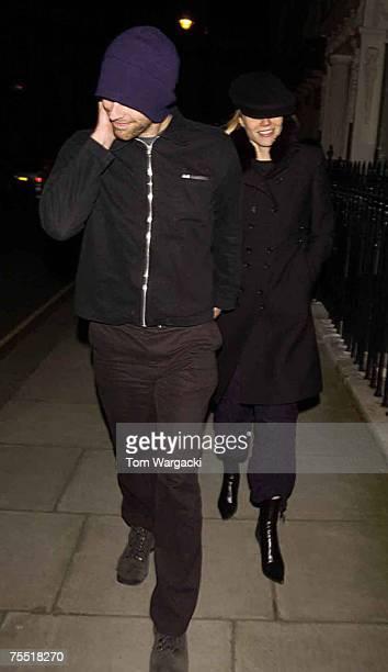 Chris Martin and Gwyneth Paltrow at the Knightsbridge in London United Kingdom