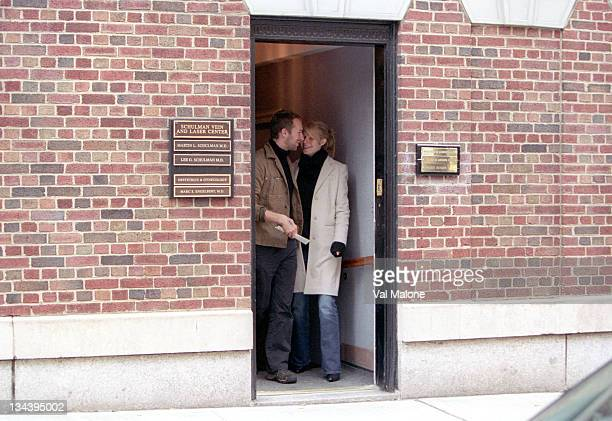 Chris Martin and Gwyneth Paltrow during An Elated Gwyneth Paltrow and Chris Martin Leave the OB/GYN Office In Manhattan On December 1 2003 at Streets...