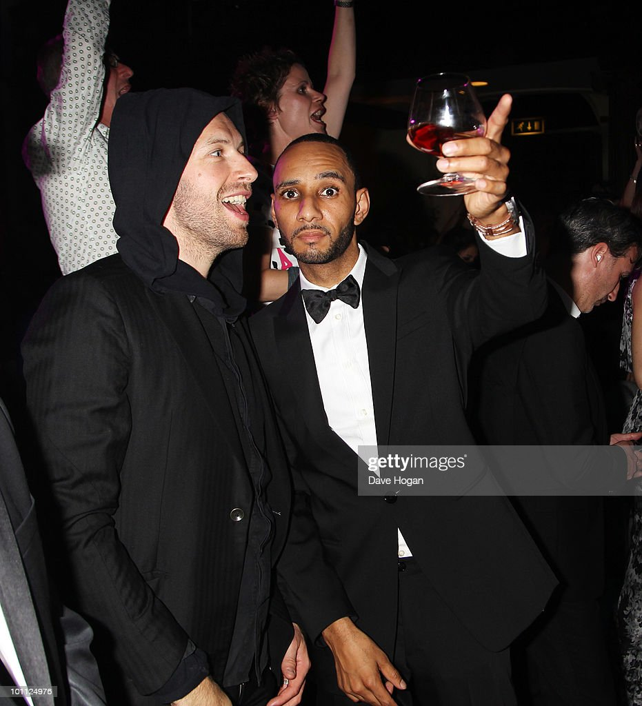 L-R Chris Martin and Swizz Beatz attend the Keep A Child Alive Black Ball at held at St John's, Smith Square on May 27, 2010 in London, England.