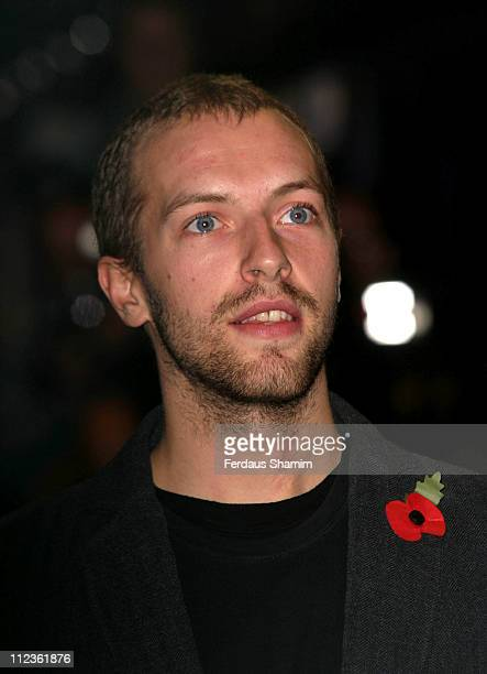 Chris Martin during The Times BFI London Film Festival Closing Night Premiere of Sylvia at Odeon Leciester Square London in London United Kingdom