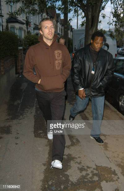 Chris Martin from Coldplay during Coldplay Secret Performance Arrivals at Round Chapel Church Hackney in London Great Britain