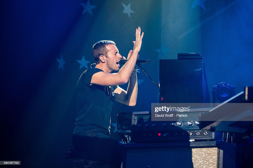 Chris Martin from Coldplay performs at Casino de Paris on May 28, 2014 in Paris, France.