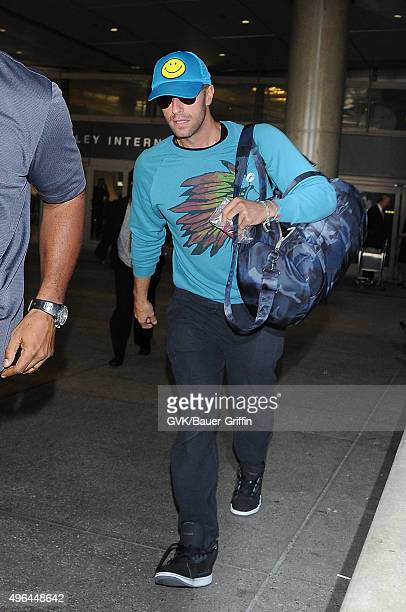 Chris Martin is seen at LAX on November 09 2015 in Los Angeles California