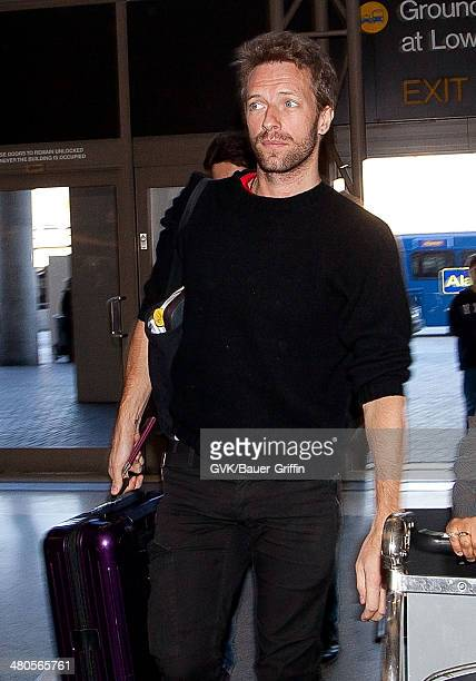 Chris Martin is seen leaving LAX on January 12 2013 in Los Angeles California