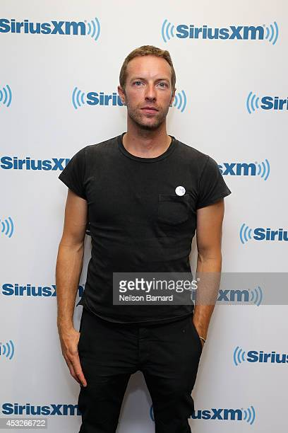 Chris Martin Of Coldplay Attends The SiriusXM's Artist Confidential Series In The SiriusXM Studios on August 6 2014 in New York City