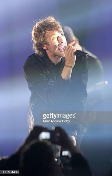 Chris Martin of Coldplay during 2006 JUNO Awards Show at Halifax Metro Centre in Halifax Nova Scotia Canada