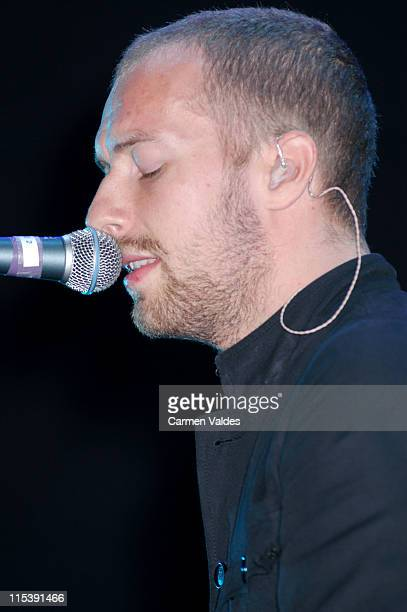 Chris Martin of Coldplay during Coldplay Performs at Madison Square Garden at Madison Square Garden in New York City New York United States