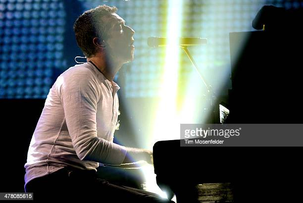 Chris Martin of Coldplay performs as part of the iTunes Festival at the Moody Theater on March 11 2014 in Austin Texas