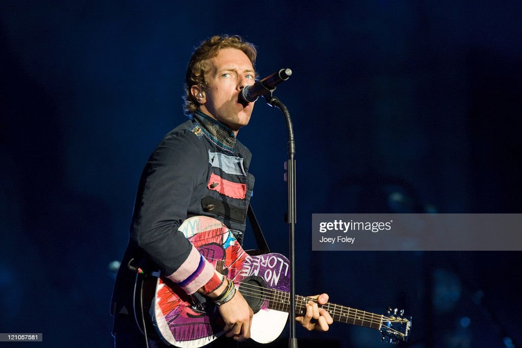 Chris Martin of Coldplay performs at the Verizon Wireless Music Center on June 5, 2009 in Noblesville, Indiana.