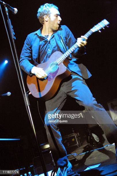 Chris Martin of Coldplay performs during Coldplay in Concert - Kansas City at Memorial Hall in Kansas City, Kansas, United States.