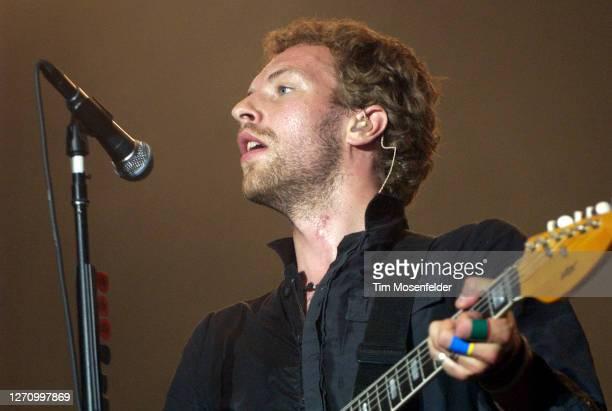 Chris Martin of Coldplay performs during day three of the Austin City Limits Music Festival at Zilker Park on September 24, 2005 in Austin, Texas.