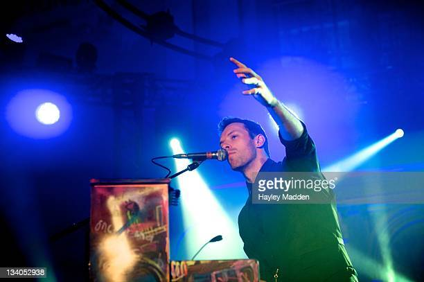 Chris Martin of Coldplay performs on stage during Little Noise Sessions at St JohnAtHackney on November 24 2011 in London United Kingdom
