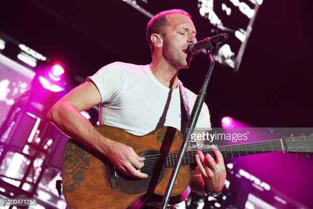 Chris Martin of Coldplay performs onstage at the 2020 iHeartRadio ALTer EGO at The Forum on January 18, 2020 in Inglewood, California.