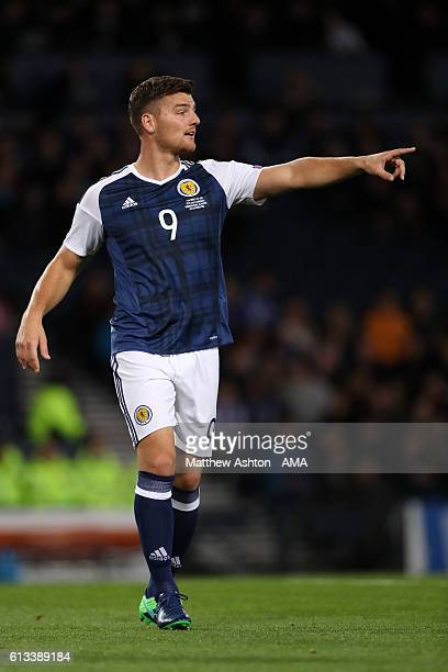 Chris Martin of Scotland during the FIFA 2018 World Cup Qualifier between Scotland and Lithuania at Hampden Park on October 8 2016 in Glasgow Scotland