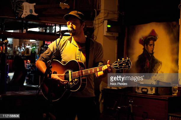 Chris Martin performs at Boogaloo on April 13 2011 in London England