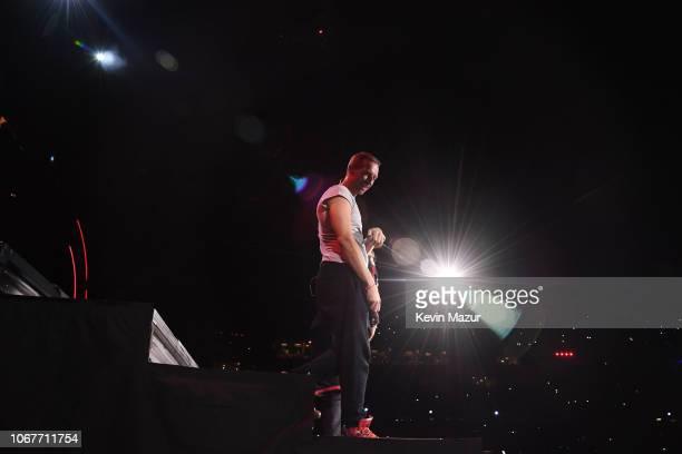Chris Martin performs during the Global Citizen Festival Mandela 100 at FNB Stadium on December 2 2018 in Johannesburg South Africa