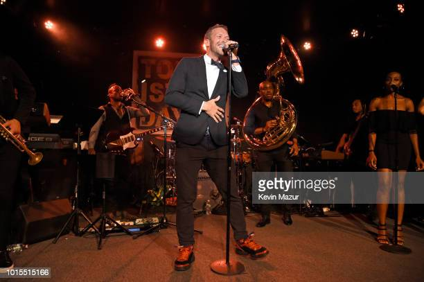 Chris Martin performs onstage during Apollo in the Hamptons 2018 Hosted by Ronald O Perelman at The Creeks on August 11 2018 in East Hampton New York