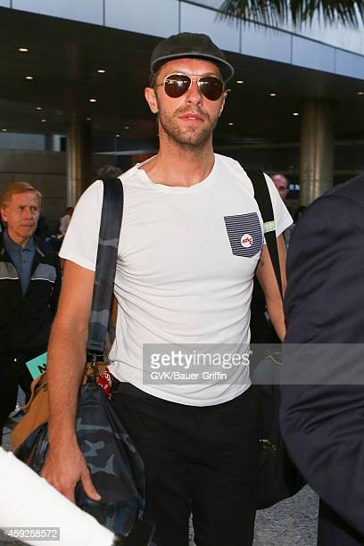 Chris Martin seen at LAX on November 19 2014 in Los Angeles California