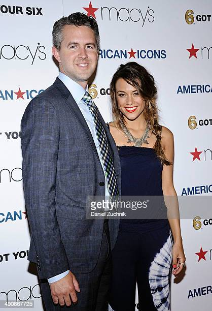 Chris Marvin and actress Jana Kramer attend the Macy's American Icons launch at Macy's Herald Square on May 14 2014 in New York City