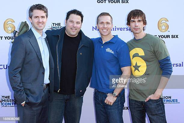Chris Marvis, Greg Grunberg, Eric Greitens and Christopher Gorham attend Got Your 6 and The Mission Continues Service Project Event at The Globe...