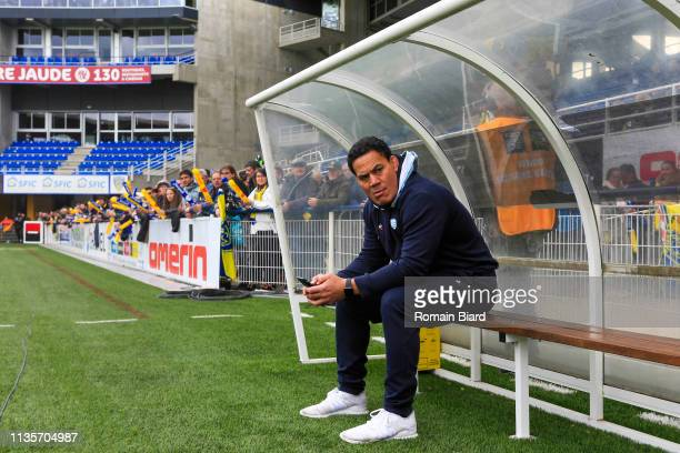 Chris Masoe Responsible for Individual Skills of Racing92 during the Top 14 match between Clermont and Racing 92 at Stade Marcel Michelin on April 7...