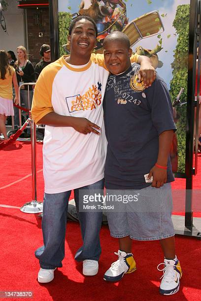 Chris Massey and Kyle Massey during DreamWorks' Los Angeles Premiere of Over the Hedge at Mann Village Theater in Westwood CA United States