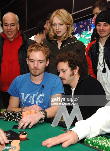 Chris Masterson Laura Prepon and Danny Masterson during 2006 Park City W Lounge Celebrity Poker Tournament at W Tent at Village at the Lift in Park...