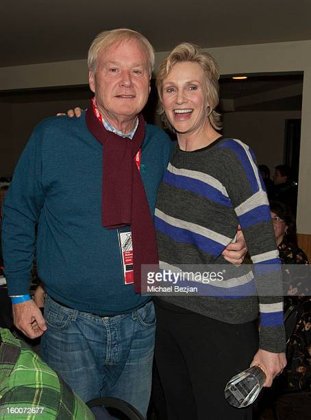 Chris Matthews and actress Jane Lynch attend 2013 Creative Coalition Spotlight Initiative Gala Awards Dinner 2013 Sundance Film Festival at The Sky...