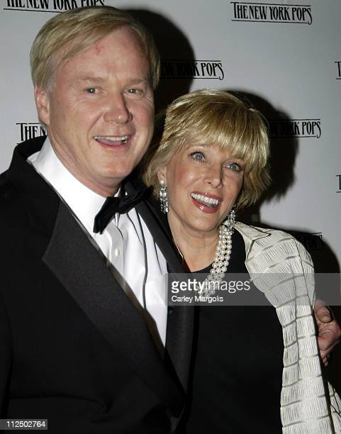 Chris Matthews and Lesley Stahl during 2 by 2 22nd Birthday Gala Benefiting The New York Pops at The New York Athletic Club in New York City New York...