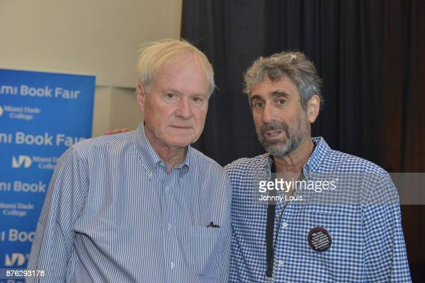Chris Matthews and Mitchell Kaplan attend The Miami Book Fair at Miami Dade College Wolfson Chapman Conference Center on November 18 2017 in Miami...