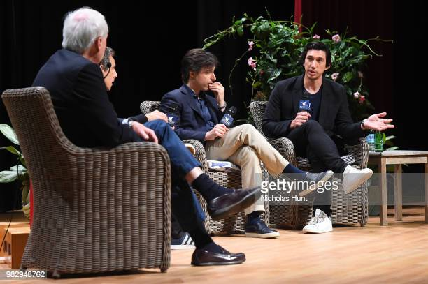 Chris Matthews Ben Stiller Noah Baumbach and Adam Driver speak onstage during 'In Their Shoes' at the 2018 Nantucket Film Festival Day 5 on June 24...