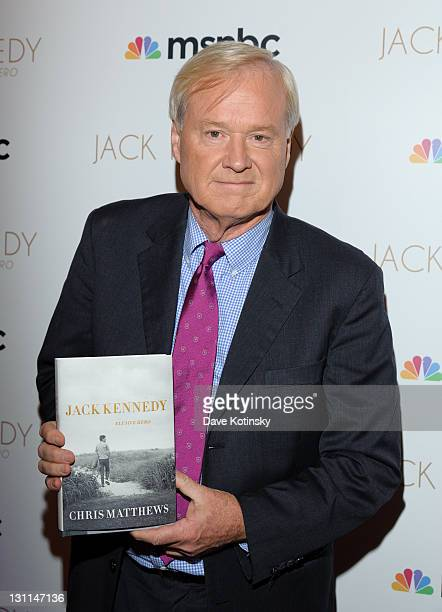 Chris Matthews book release party of Jack Kennedy Elusive Here at the Gramercy Park Hotel on November 1 2011 in New York City