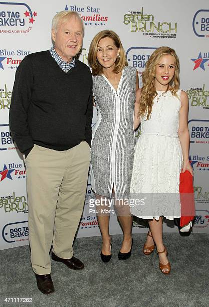 Chris Matthews Chris Jansing and Tara Lipinski attend the 2015 Annual Garden Brunch at the BeallWashington House on April 25 2015 in Washington DC