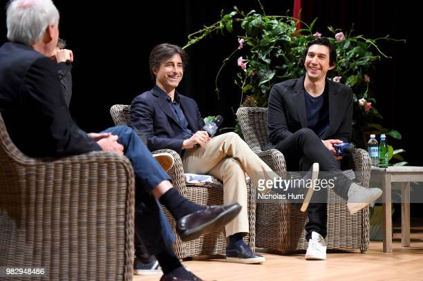 Chris Matthews Noah Baumbach and Adam Driver speak onstage during 'In Their Shoes' at the 2018 Nantucket Film Festival Day 5 on June 24 2018 in...