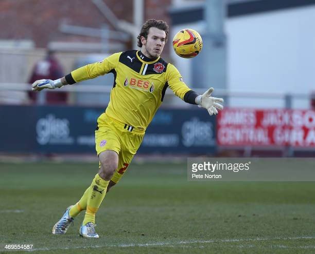 Chris Maxwell of Fleetwood Town in action during the Sky Bet League Two match between Fleetwood Town and Northampton Town at Highbury Stadium on...