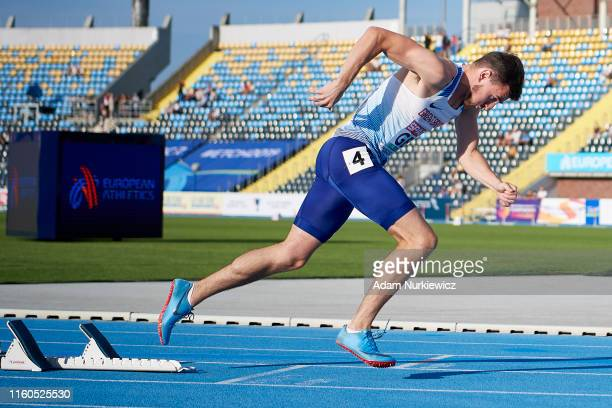 Chris McAlister from Great Britain & Northern Ireland competes in mens 400 meters hurdles while European Athletics Team Championships Super League...