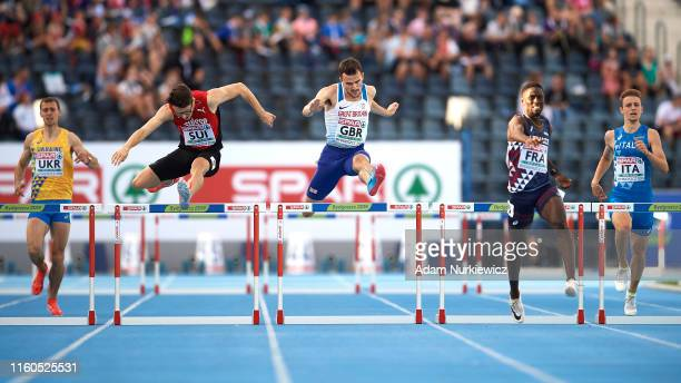 Chris McAlister from Great Britain Northern Ireland competes in mens 400 meters hurdles while European Athletics Team Championships Super League...