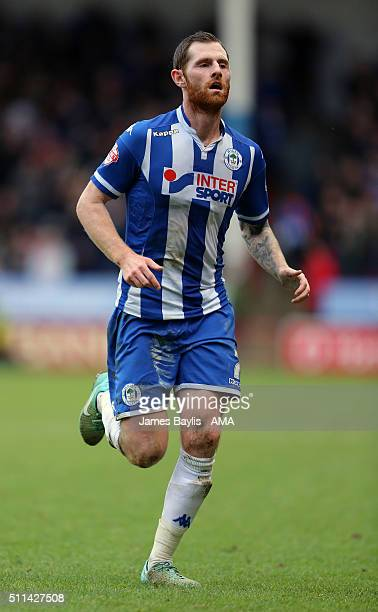 Chris McCann of Wigan Athletic during the Sky Bet League One match between Walsall and Wigan Athletic at Bescot Stadium on February 20 2016 in...