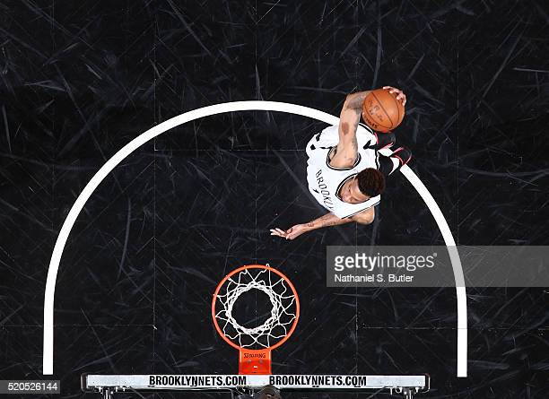 Chris McCullough of the Brooklyn Nets dunks against the Washington Wizards on April 11 2016 at Barclays Center in Brooklyn New York NOTE TO USER User...