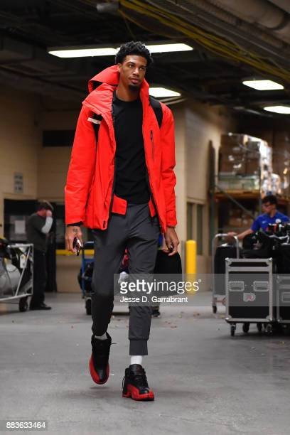 Chris McCullough of the Washington Wizards arrives at the arena before the game against the Philadelphia 76ers at the Wells Fargo Center on November...