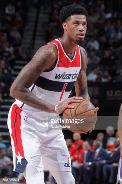 Chris McCullough of the Washington Wizards attempts a freethrow shot against the Sacramento Kings on October 29 2017 at Golden 1 Center in Sacramento...