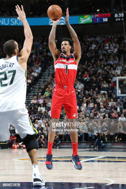 Chris McCullough of the Washington Wizards shoots the ball against the Utah Jazz on December 4 2017 at Vivint Smart Home Arena in Salt Lake City Utah...