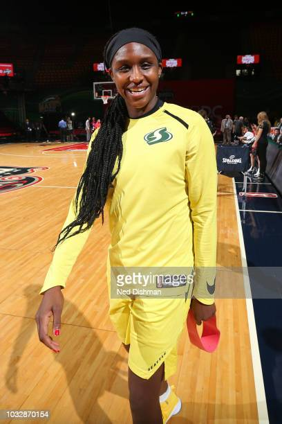 Chris McCullough of the Washington Wizards smiles for a photo before Game Three of the 2018 WNBA Finals against the Washington Mystics on September...