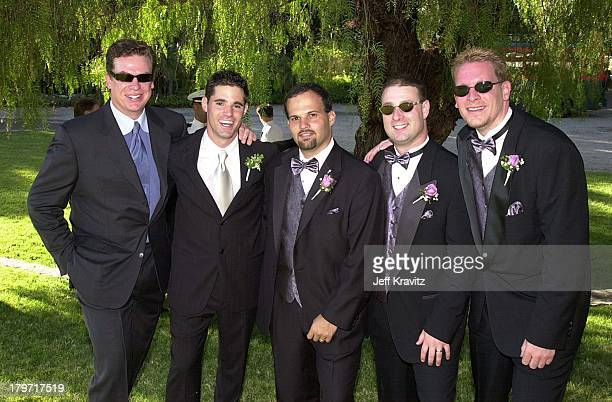 Chris McDonald David Tuchman and his best men during David Tuchman and Melissa Caulfield Wedding 2001