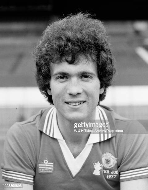 Chris McGrath of Manchester United at Old Trafford in Manchester, England, circa July 1977.