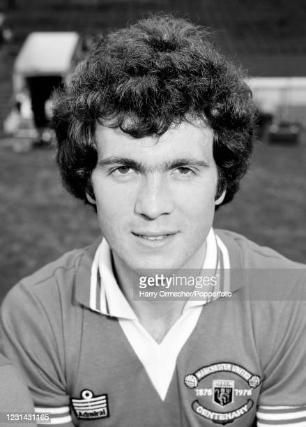 Chris McGrath of Manchester United at Old Trafford in Manchester, England, circa August 1978.