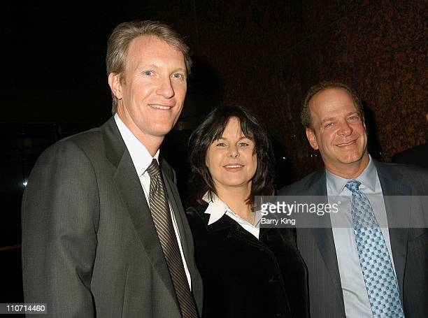 Chris McGurk and Mavis Leno and Erik Lomis during A Special Screening of Osama by United Artists Hosted by Mavis Leno at Museum of Tolerance in West...