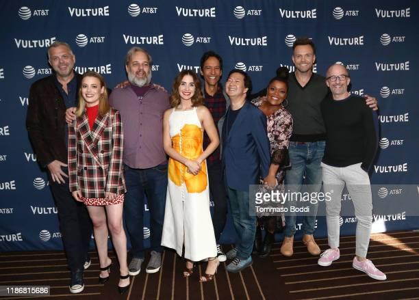 Chris McKenna, Gillian Jacobs, Dan Harmon, Alison Brie, Danny Pudi, Ken Jeong, Yvette Nicole Brown, Joel McHale and Jim Rash attend Vulture Festival...
