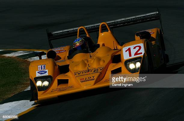 Chris McMurray drives the @12 LMP1 Autocon Motorsports Lola B06 during practice for the American Le Mans Series Petit Le Mans on October 2, 2008 at...